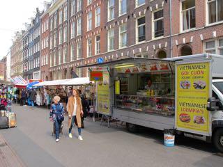Ten Kate market in Amsterdam