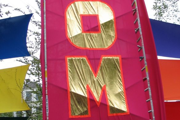 Banner on gay festival Amsterdam