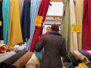 Textiles market on Westerstraat