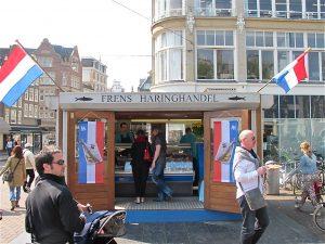 Fish stand at Koningsplein