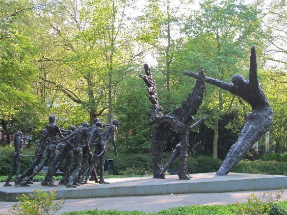 Slavery momument in Amsterdam