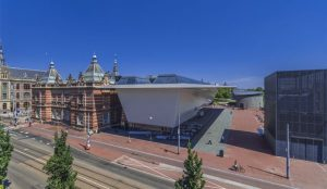 The new extension of Amsterdam's Stedelijk, Museum of Modern Art. Photo by: John Lewis Marshall, Stedelijk.