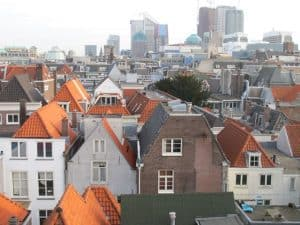 View on The Hague. The tall buildings are newly constructed building to house many of the Dutch Ministeries.