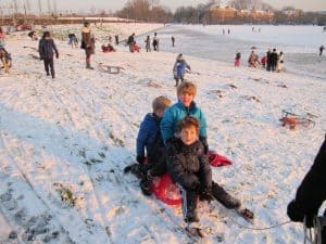 Sledding in Amsterdam