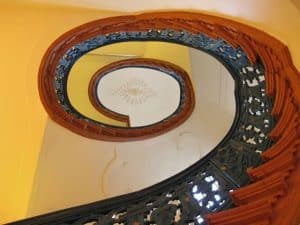 Staircase at Kromhout house