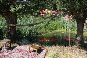 Rijk van de Keizer, green grass and a hammock, what more do you want on your vacation in Amsterdam?