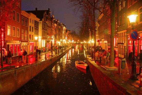 Prostitution in the Red Light District Amsterdam