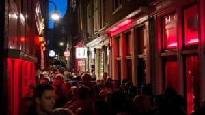 Red Light District Amsterdam at night